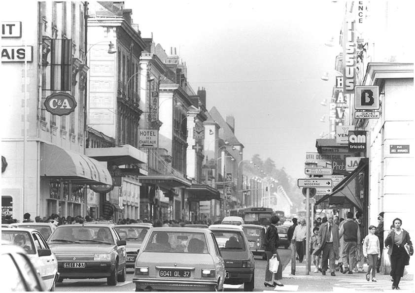 rue nationale en 1985 photo des archives municipales