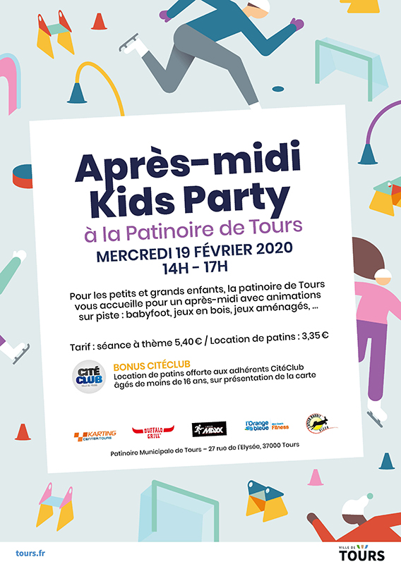 Animation patinoire kids party